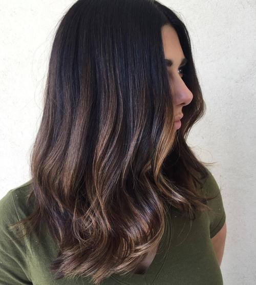 20 subtle balayage for dark brown hair