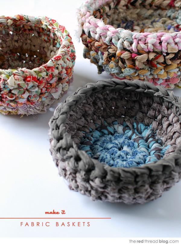 23 Cute Crochet Fabric Baskets