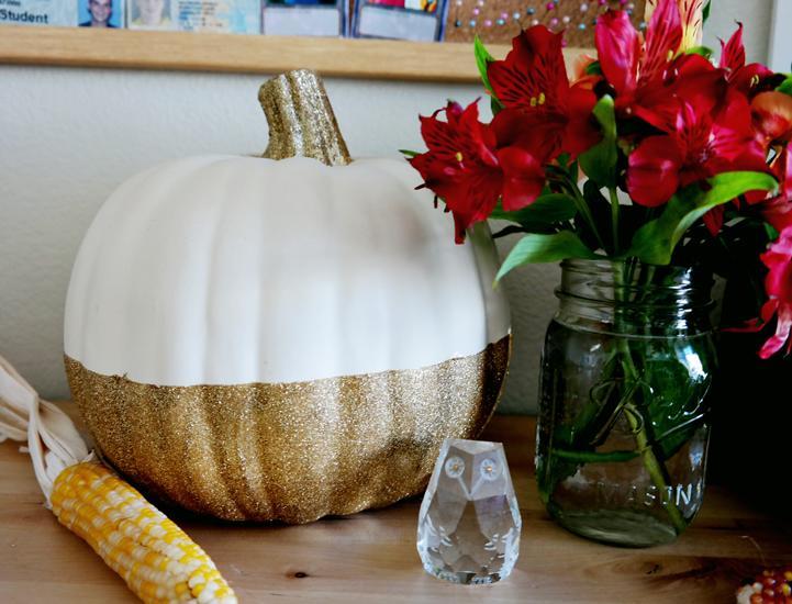 23 Dipped Pumpkin Centerpiece