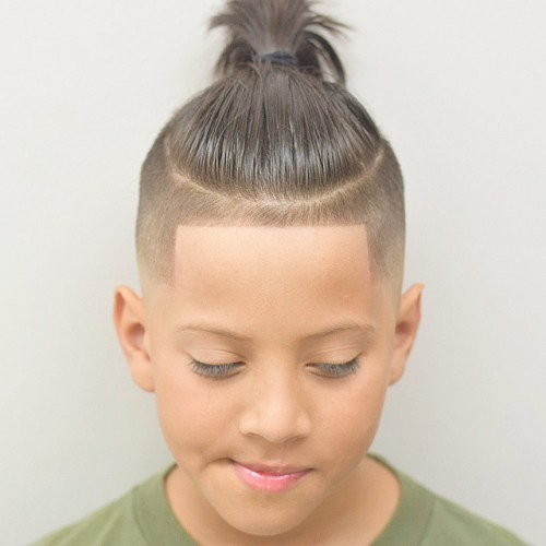 23 line up undercut with long hair on top