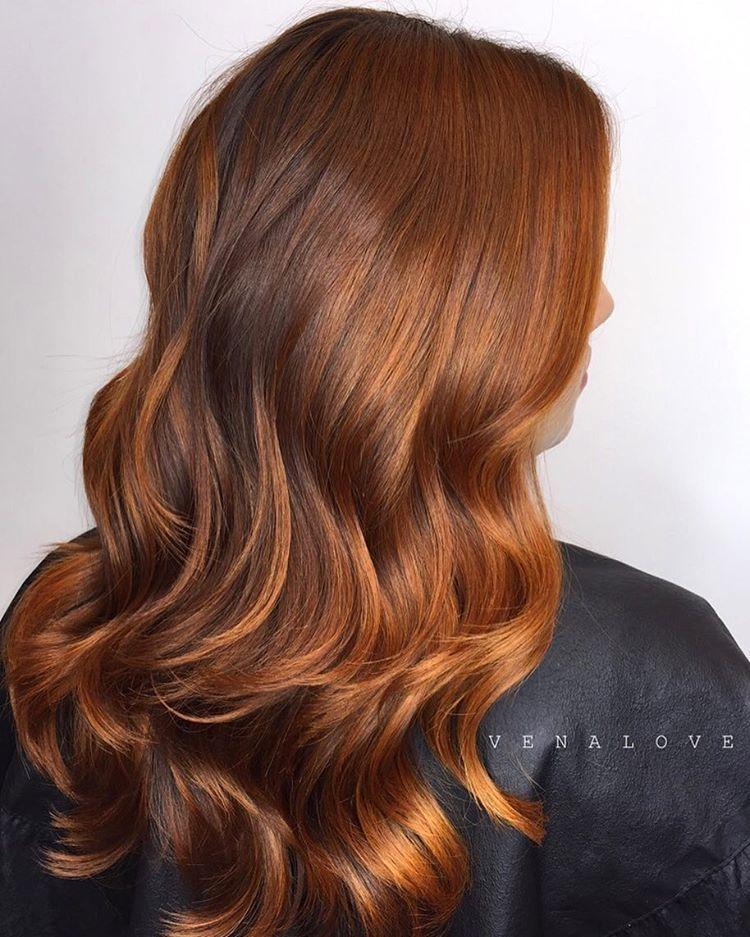 23 wavy copper brown hair