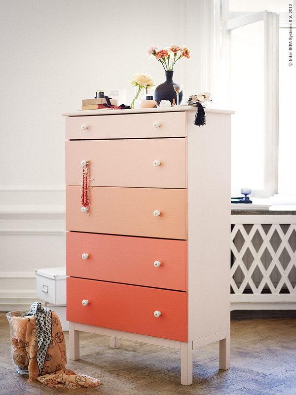 25 IKEA Hack for Ombre Dresser