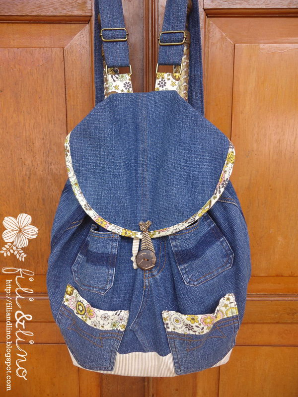 26 Recycle Jeans Backpack