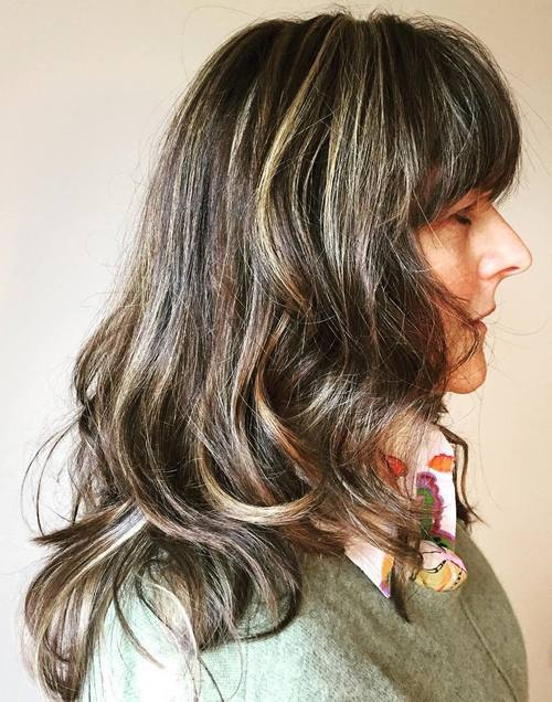 26 long layered hairstyle with bangs