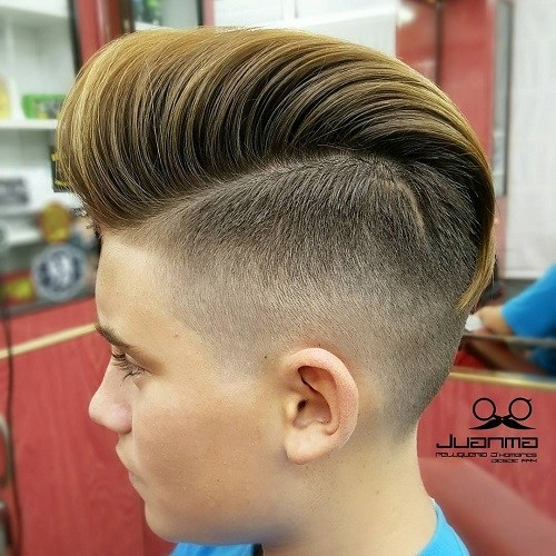 26 long top short sides hairstyle for boys