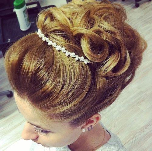 26 wedding curly updo for shorter hair