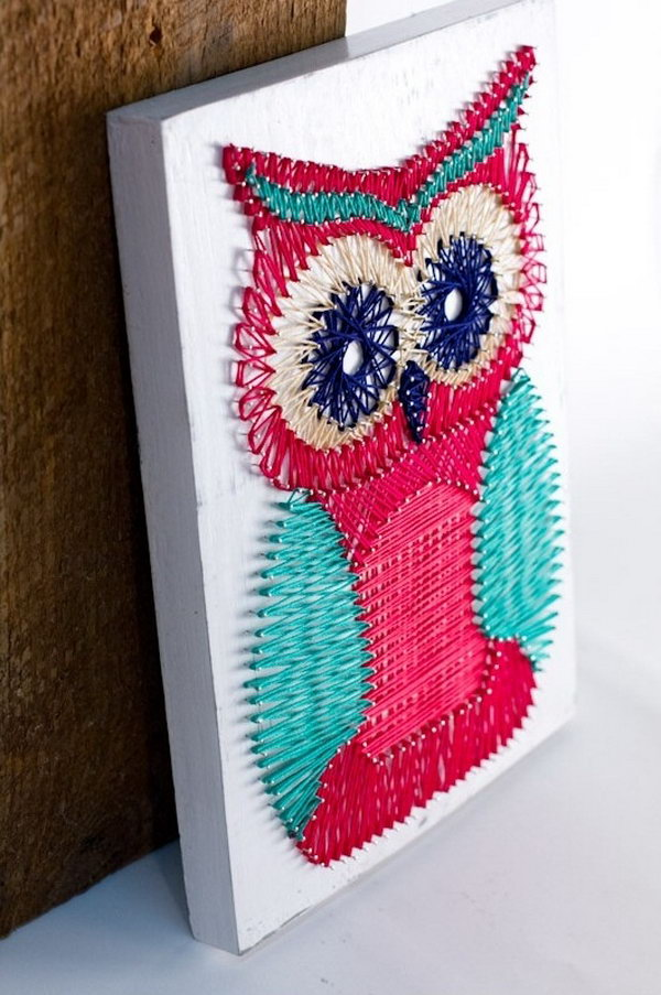 27 DIY Owl String Art