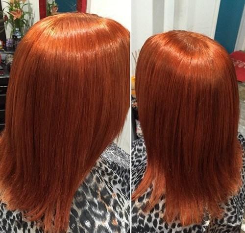 27 medium straight copper hairstyle