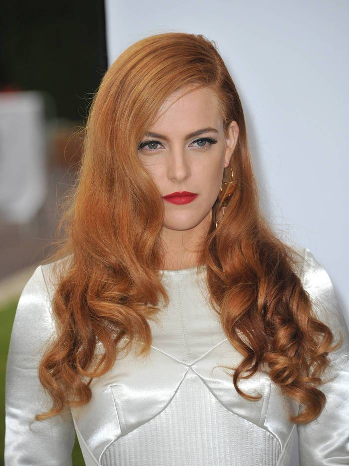 27 riley keough's fatal honey red hair color
