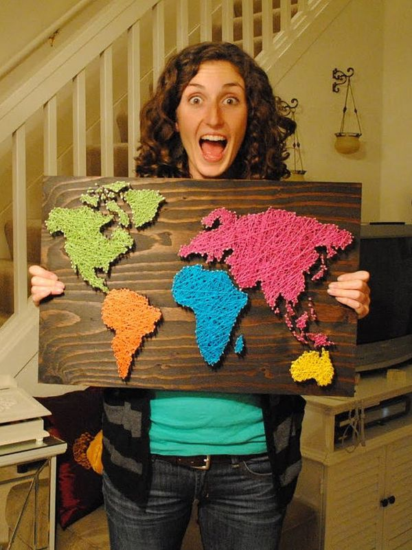 31 diy string art ideas tutorials for your home decor page 28 28 diy nail wall art world map gumiabroncs Choice Image