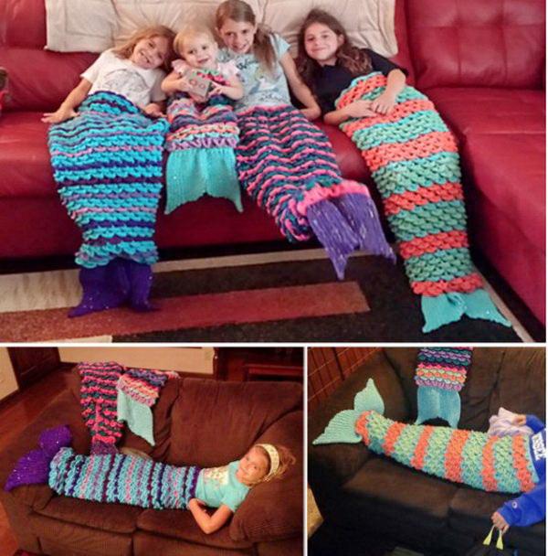 3 Crochet Mermaid Blanket