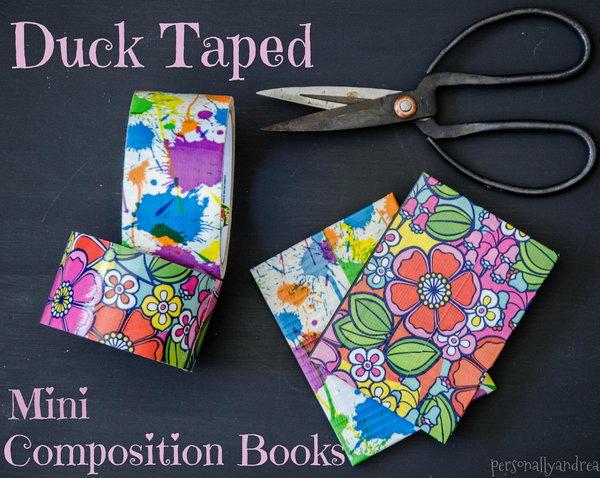 3 Duck Taped Mini Composition Books