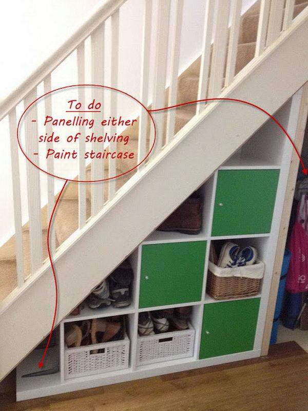 3 Expedit Under-stairs Storage Ideas