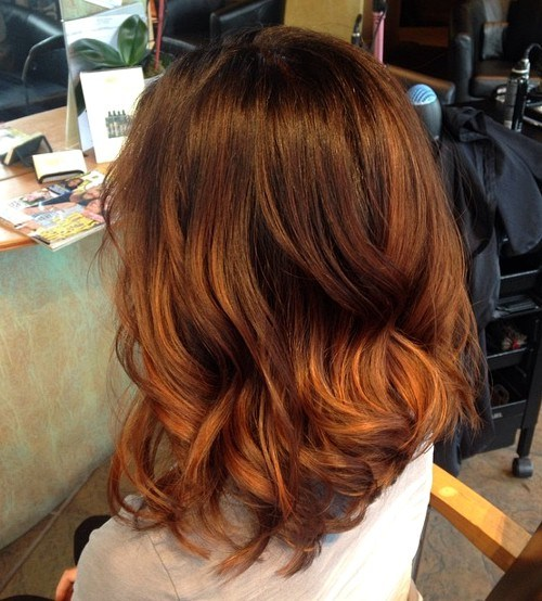 3 brown to copper ombre hair