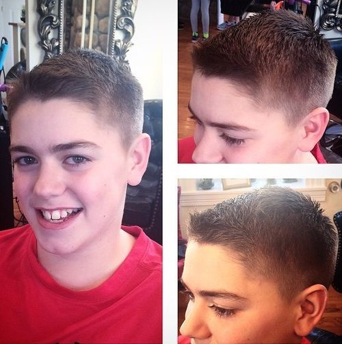 3 traditional brush cut guys hairstyle