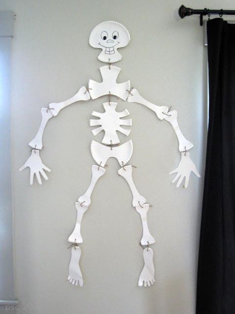 30 Paper Plate Skeleton