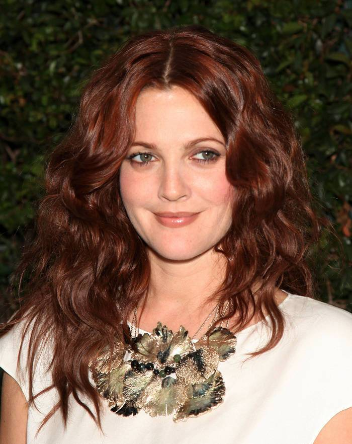 31 drew barrymore's chocolate red hair color