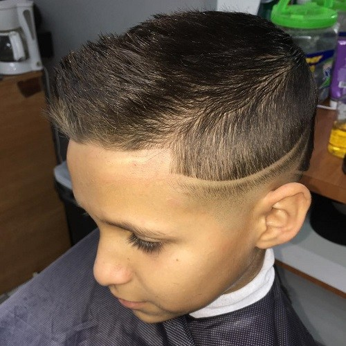32 boys quiff hairstyle with low fade