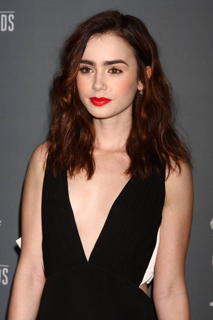 32 red highlights for brown hair as a brilliant solution from lily collins
