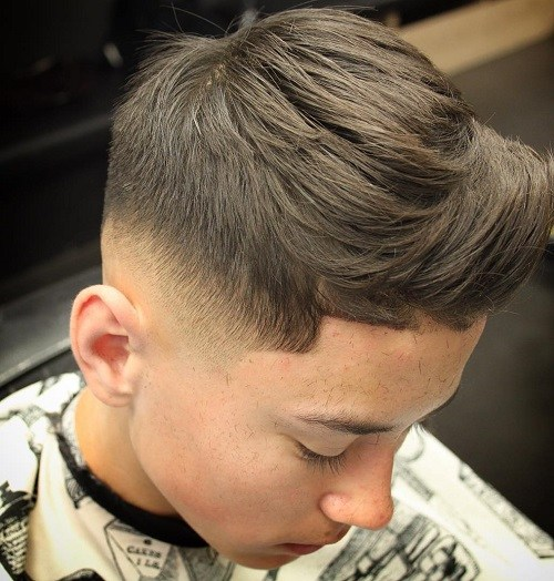 36 fade haircut with layered top for boys