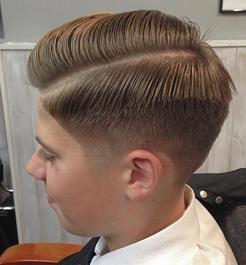 37 boys side part taper cut