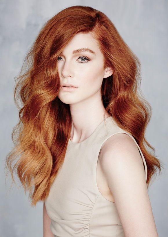 37 copper wavy hair