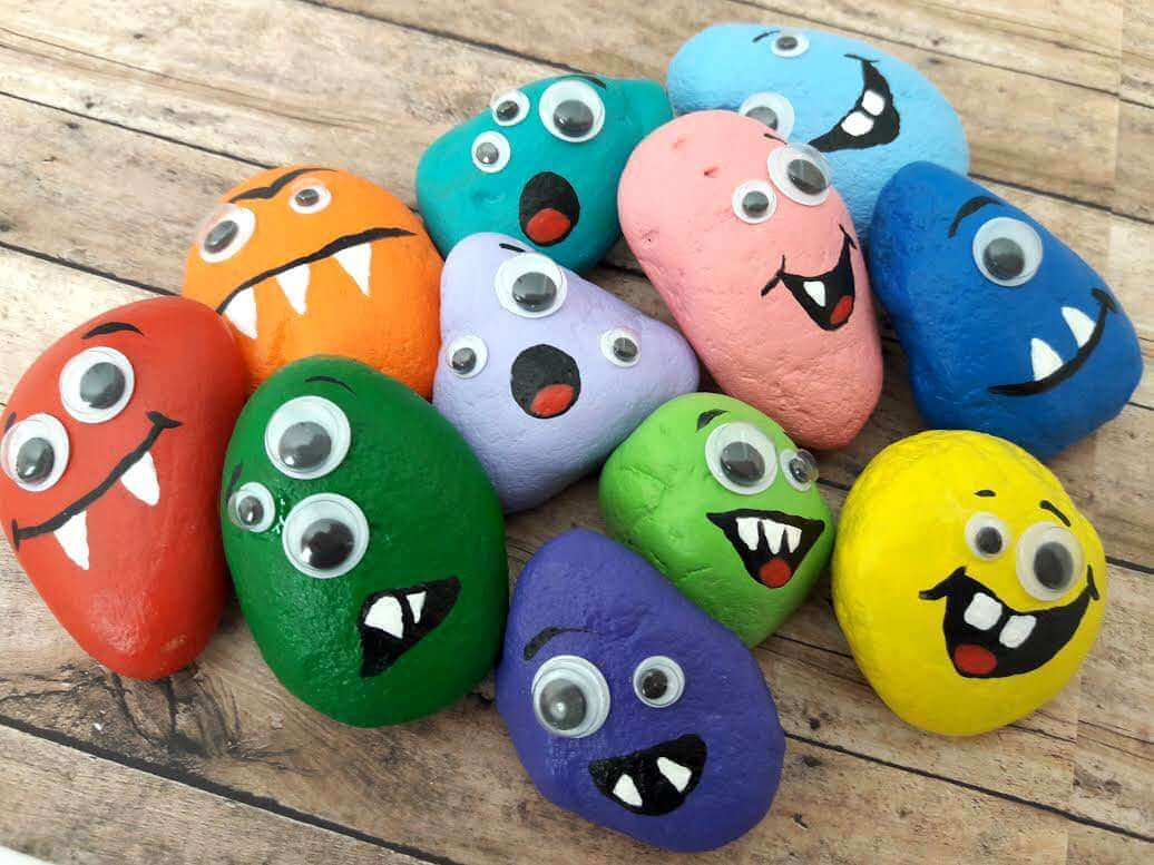 39 Halloween Rock Monsters