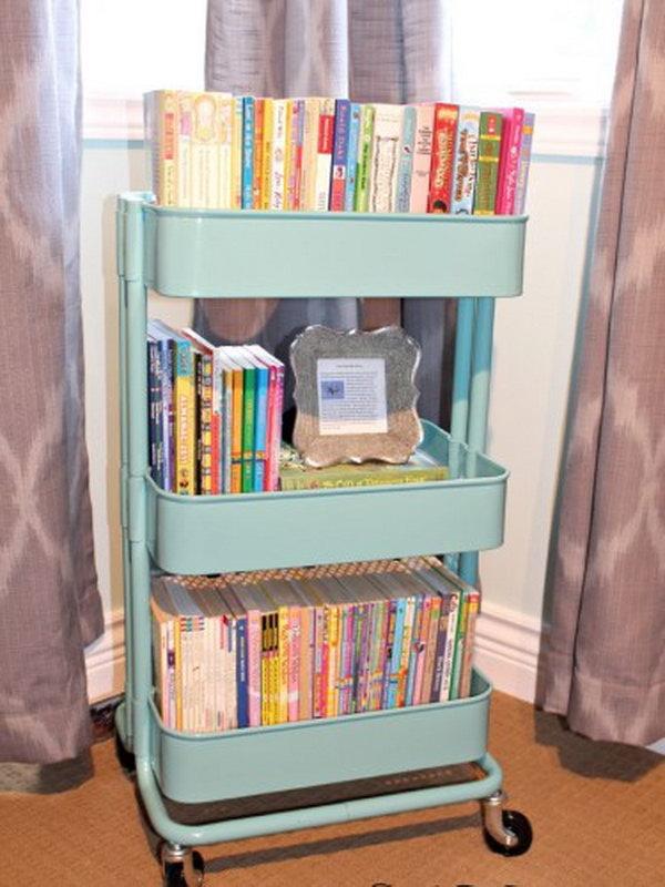 4 Ikea Raskog Cart Used as Book Storage