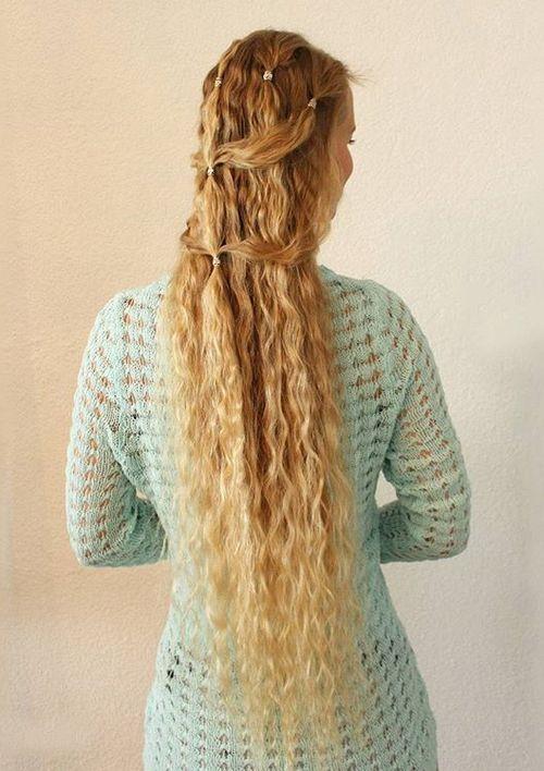 4 simple elegant half updo for long hair