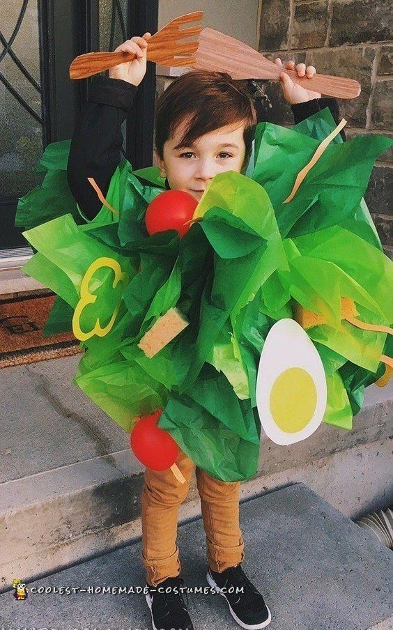 40 Green Veggies Salad Costume