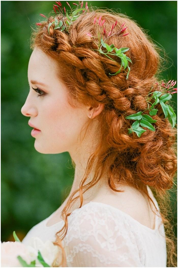 40 wedding copper hair