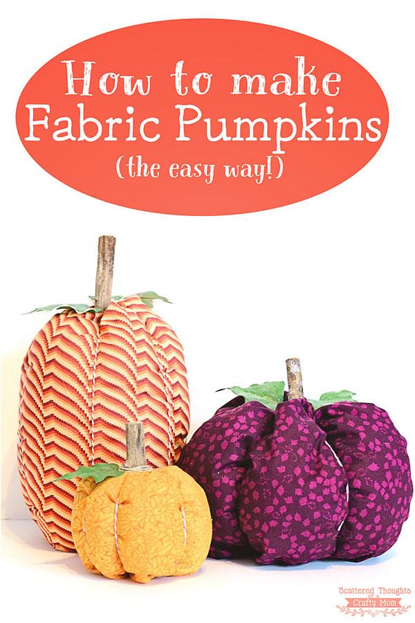 41 Easy Fabric Pumpkins
