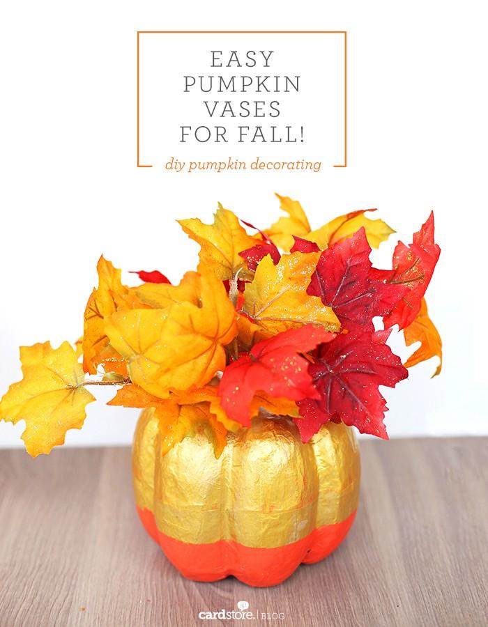 42 Easy Pumpkin Vases For Fall