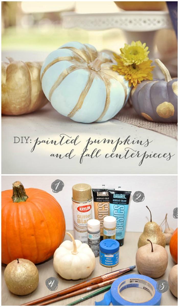 44 DIY Painted Pumpkins