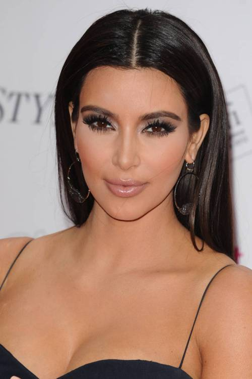 46-kim-kardashian-brown-hair-shade-dark-brown-satin