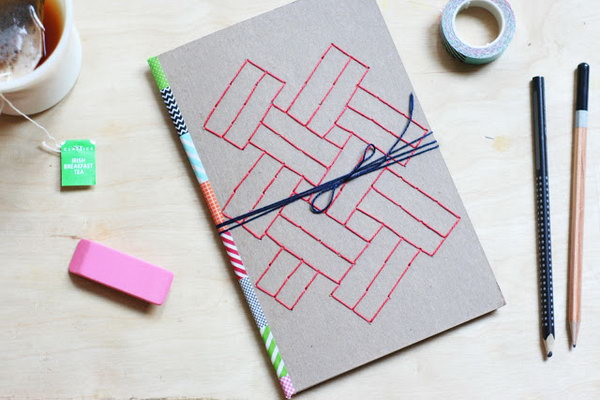 5 Embroidered Paper Journal