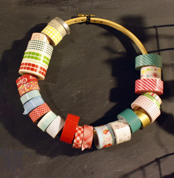 5 Embroidery Hoop Washi Tape Holder