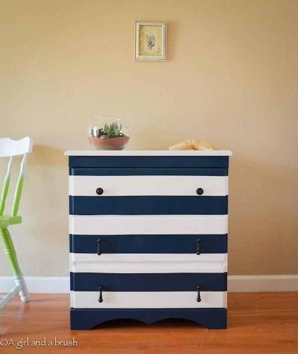 5 Nautical Strips Dresser