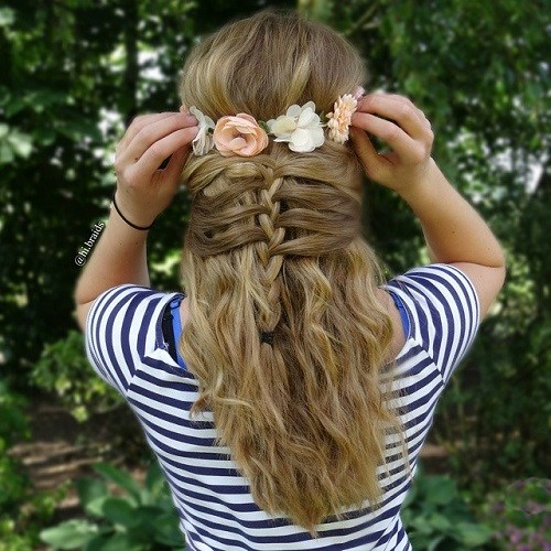 5 cute braided half updo for teens