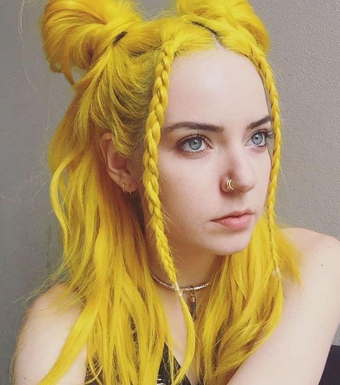 5 medium yellow hair for girls