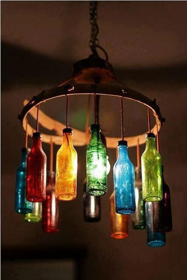 22 diy wine bottle chandelier inspirations page 6 foliver blog 6 old wine bottle chandelier 2 aloadofball Images