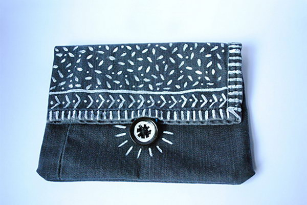 6 Recycled Denim Pouch