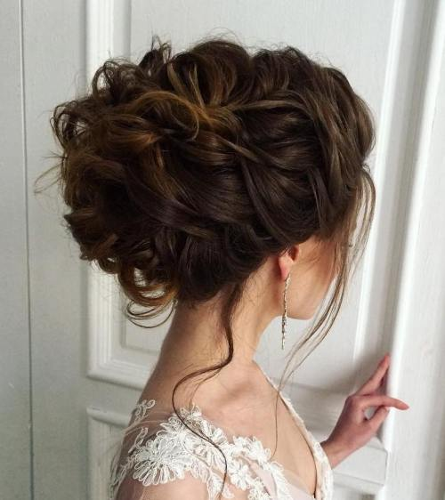 6 curly updo for thick hair