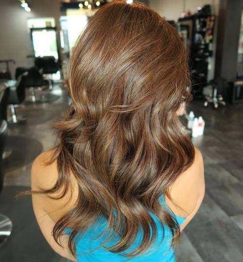 6 medium brown layered hair