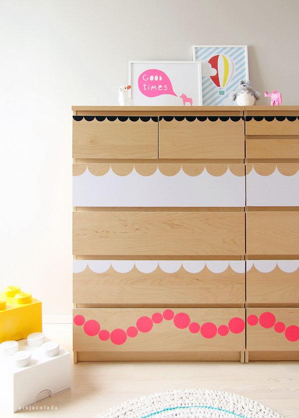7 Circle Patterned Dresser