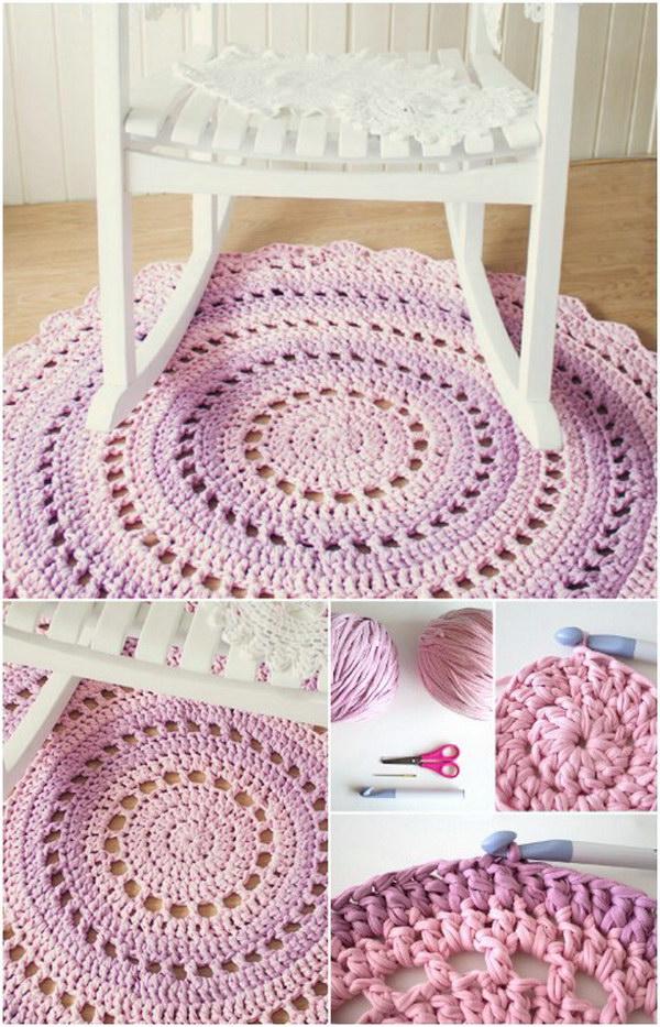 7 Crochet T-shirt Yarn Rug