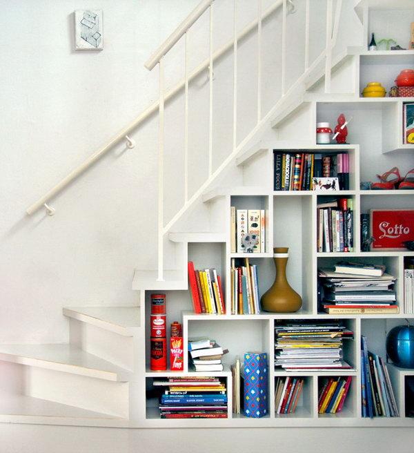 7 Open Shelf Under Stair Storage