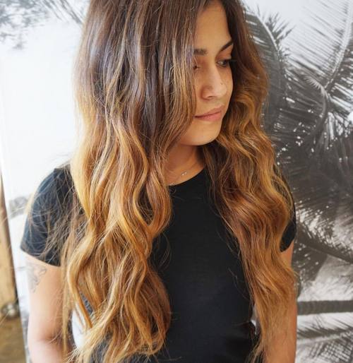 7 long brown ombre hair