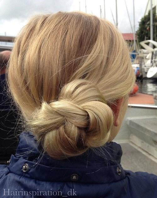 7 side braided bun updo for teens