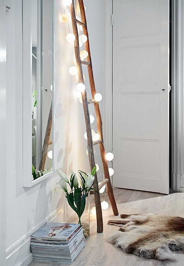 8 Decorative Ladder With String Lights